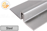 "Interlocking Astragal Offset Bar 3"" (Outswing) (Steel) (Silver) (82"" Length)"