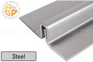 "Interlocking Astragal Offset Bar 3"" (Outswing) (Steel) (Silver) (95"" Length)"