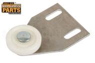 Shower Door Roller Assembly (White) (2'' Length) (1-1/2'' Width)