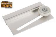Shower Door Roller & Bracket (White) (2-9/16'' Length)
