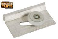 Shower Door Roller Assembly (White) (2'' Length) (1-1/8'' Width)