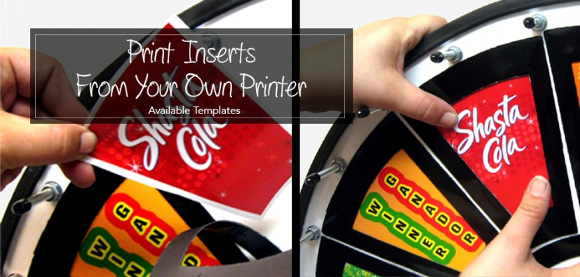 Insert Your Own Graphics Prize wheels prize wheel templates
