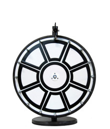 18 Inch Insert Your Own Graphics Prize Wheel with Black Magnetic Frames