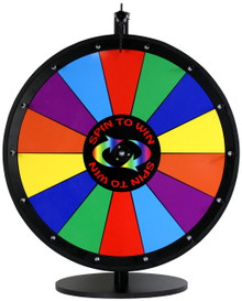 24 Inch Spin to Win Color Dry Erase Prize Wheel with 14 sections
