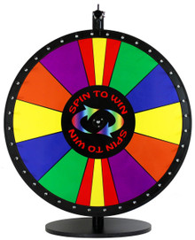 24 Inch Spin to Win with Special Sections Color Dry Erase Prize Wheel