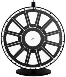 36 Inch Insert Your Own Graphics Prize Wheel with Black Magnetic Frames