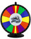 Add a custom stationary logo plate to your color dry erase prize wheel