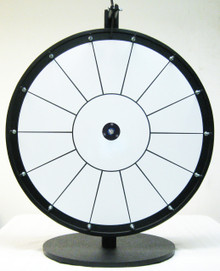 24 Inch White Dry Erase Prize Wheel with 14 Sections