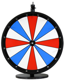 18 Inch Red, White, and Blue Color Dry Erase Prize Wheel