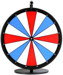 24 Inch Red, White, and Blue Color Dry Erase Wheel