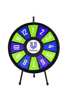 "20.5"" Insert Your Own Graphics Mini Prize wheel with 12 slots"