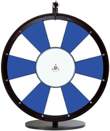 "24"" Blue and White Color Dry Erase Prize Wheel"