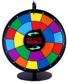 24 Inch Double Spin to Win Dry Erase Prize Wheel