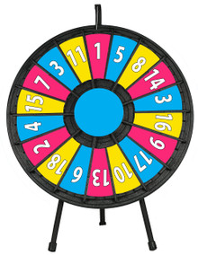 "31"" Insert Your Own Graphics Prize wheel with 18 Slots"