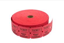 Roll of 2,000 2-Part Raffle Tickets