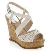 Vince Camuto Women's ILARIO Wedge Sandal CLOUD CREAM/NAT