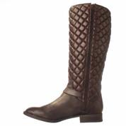 Vince Camuto FREDRICA Leather Fashion Mid-Calf Boots FUDGE