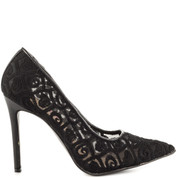 Penny Loves Kenny Women's TENDER Dress Pump BLACK LACE