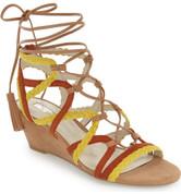 BCBGeneration Women's VANDA Lace-Up Wedge Sandal