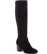BCBGeneration DICE Women Round Toe Suede Black Knee High Boot