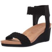 Lucky Brand Women's Kierony Leather Open-toe Wedge Sandal