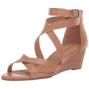 Lucky Brand Women's Jinela Leather Pointed-toe Wedge Sandal