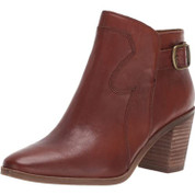 Lucky Brand Women's Kauto Leather Almond toe Ankle Boot