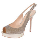 Vince Camuto Women's LEVINA Ankle-High Leather Pump GOLD