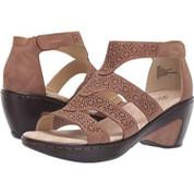 JBU by Jambu Women's Bianca Synthetic Memory Foam Almond-Toe Wedge Heel Sandal