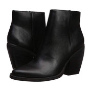 Madden Girl Women's Klicck Synthetic Almond Toe Stacked Heel Ankle Boot