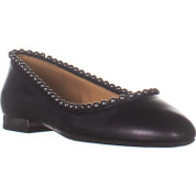 Jessica Simpson Womens Gillian Synthetic & Leather Closed Toe Ballet Flats