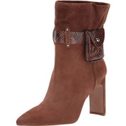 Jessica Simpson Women's Brynne Leather Block Heel Fashion Boot
