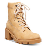 Madden Girl Women's Dillan Synthetic Round Toe Ankle Zipper Lace-Up Lug Booties
