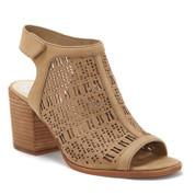 Vince Camuto Women's Keannie Leather Open toe Stacked Block Heel Sandal