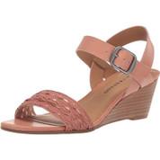Lucky Brand Women's Jaliena Leather open Toe Ankle Strap Wedge Heel Sandal