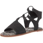 Lucky Brand Women's Feray Leather Memory Foam Open-Toe Slip On Flat Sandal
