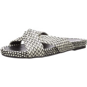 Lucky Brand Women's Fynna Synthetic Open Toe Flat Slide Sandal