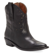 Lucky Brand Women's ChantelX Leather Almond-Toe Stacked Block Heel Cowboy Boot