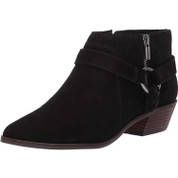 Lucky Brand Women's Enitha Synthetic Pointed-Toe Stacked Heel Ankle Boot