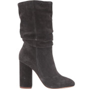 Splendid Women's Phyllis Leather Round Toe Pull On Scrunchy Boots
