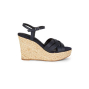 Splendid Women's Madelaine Leather Open Toe Ankle Strap Wedge Sandals