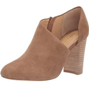 Splendid Women's Hibiscus Leather Side Cutout Stacked Block Heel Rounded Toe Pump