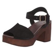 Splendid Women's Hoover Synthetic Sole Open-toe Silhouette Mid Heel Clog
