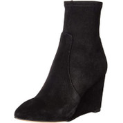 Splendid Women's Platt Leather Wrapped Wedged Heel Pointed Toe Ankle Boot