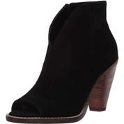 Jessica Simpson Women's Jillrie Leather Peep Toe Stacked Heel Ankle Bootie