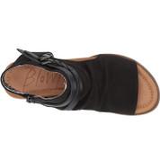 Blowfish Women's Blumoon Leather Open Toe Man-Made Buckle Closure Wedge Sandal