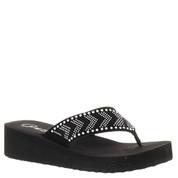 Grazie Women's ROUNOFF Wedge Sandal BLACK