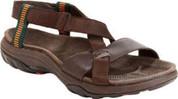 Jambu Men's ROCKY Sandal DARK BROWN