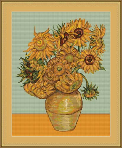 Sunflowers Petit Cross Stitch Kit By Luca S