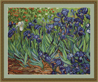 Van Gogh Irises Petit Cross Stitch Kit By Luca S